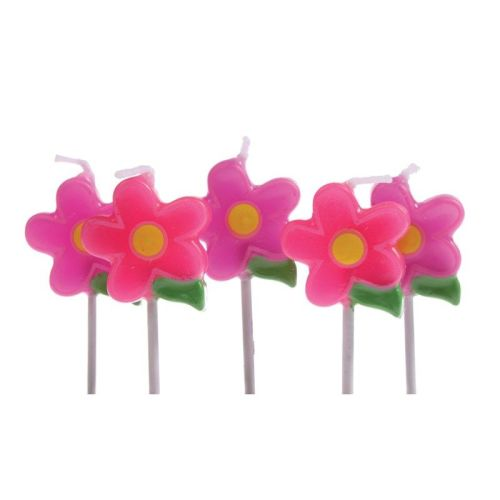 Candles - Birthday Pack of 5 Flowers