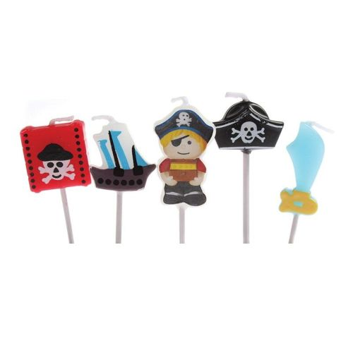 Candles - Birthday Pack of 5 Pirate Theme