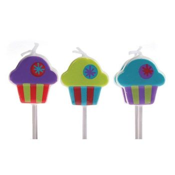 Candles - Birthday Pack of 6 Cupcakes