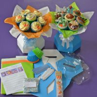 Cupcake Bouquet Box Kit -  Peter Rabbit Style