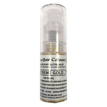 Sugarflair Glitter Dust Spray - Extreme Gold - 10g
