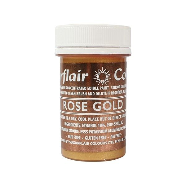 Edible Paint by Sugarflair 20g - Rose Gold