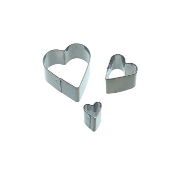 Hearts Cutters - Pack of 3