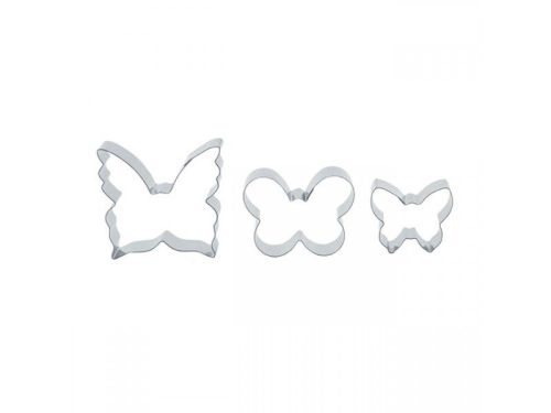 Set of 3 small butterfly cutters