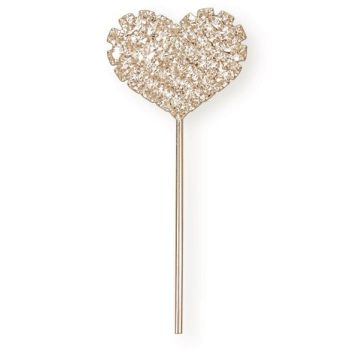 Diamante Rose Gold Heart