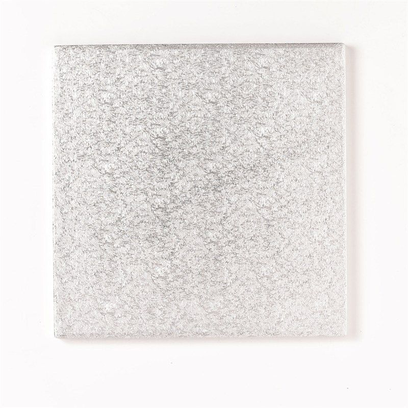 Square Cake Drums Silver