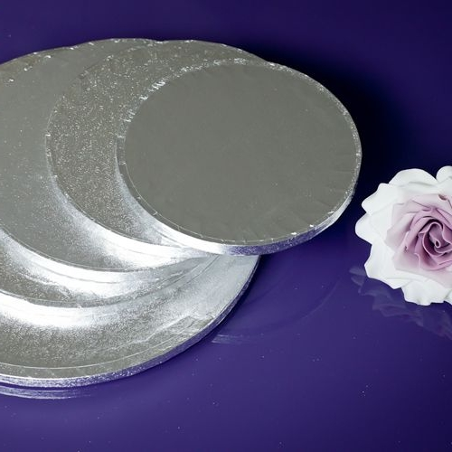Round Cake Drums Silver