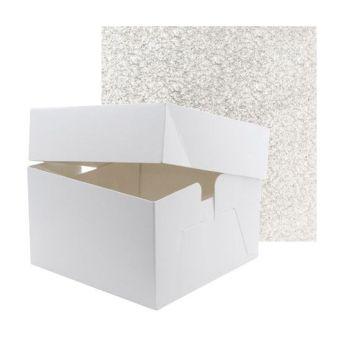 """Cake Box & Drum Set - SQUARE 12"""""""