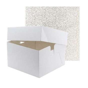 """Cake Box & Drum Set - SQUARE 10"""""""