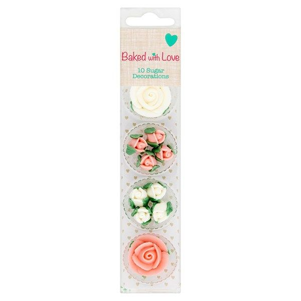 Rose Decorations - Pack of 10 Baked With Love