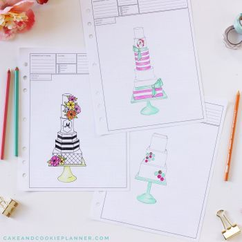 Cake Sketching Templates - Elements