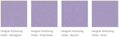 Embossing Folders Bundle 4