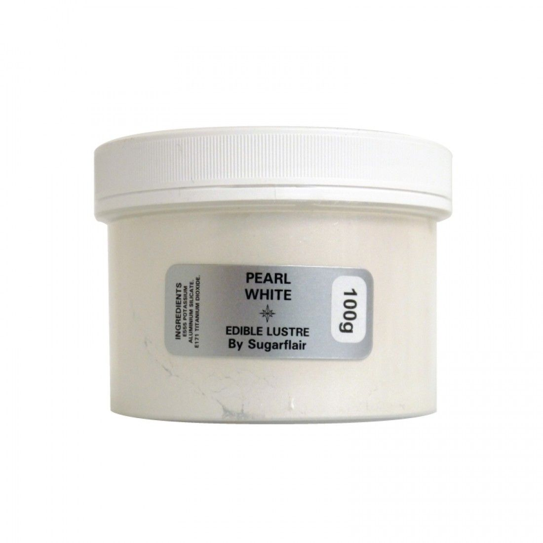 Sugarflair Lustre Colour 100g Pot - Pearl White