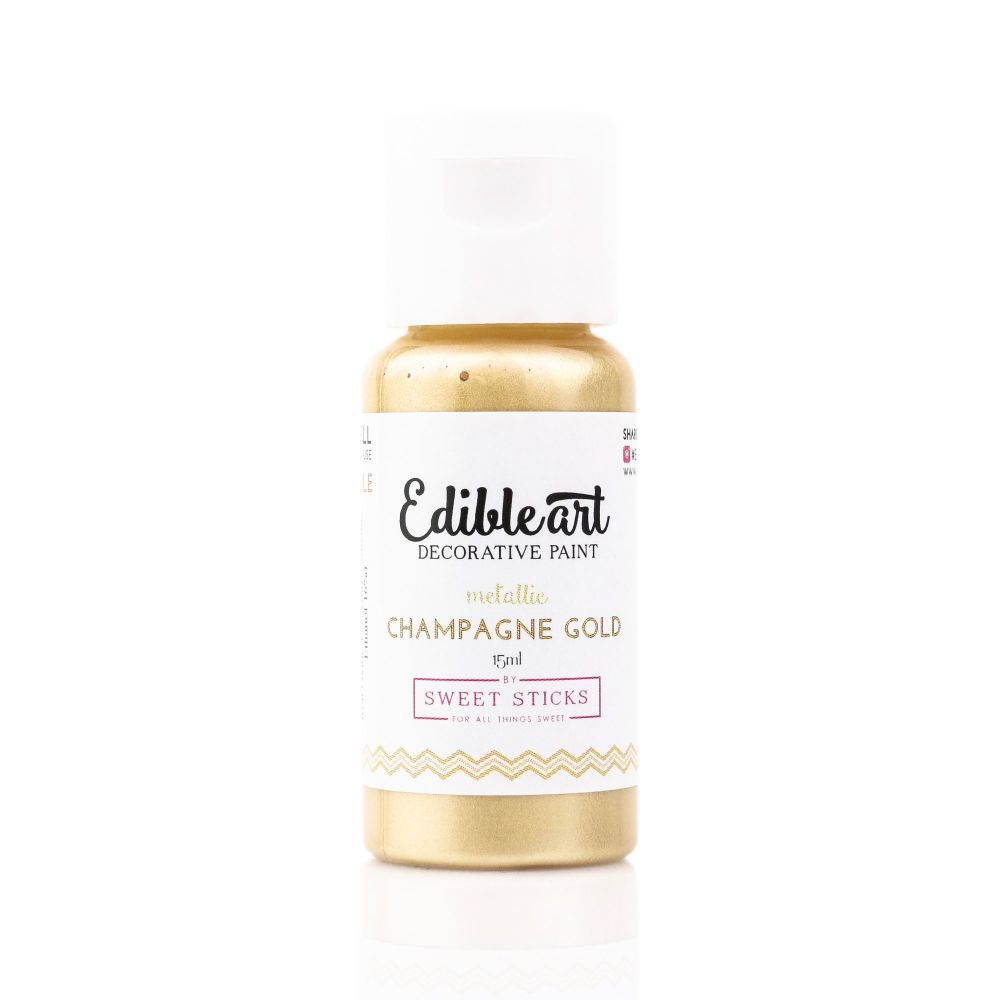 Sweet Sticks Edible Art Paint 15ml - Champagne Gold