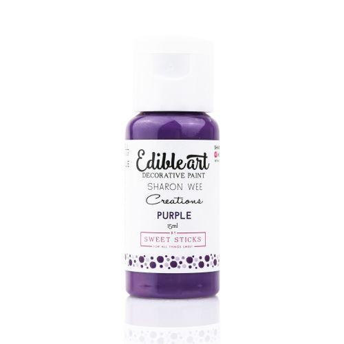 Sweet Sticks Edible Art Paint 15ml - Sharon Wee Purple