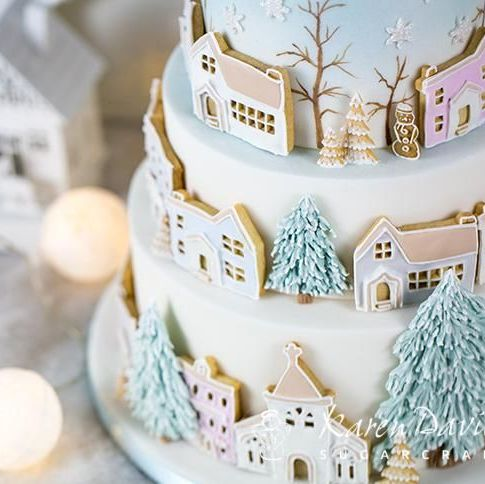 Karen Davies Mould - Winter Village
