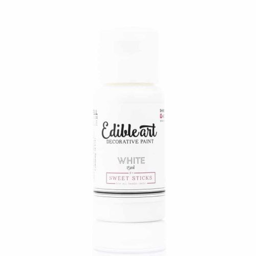 Sweet Sticks Edible Art Paint 15ml - Pearl White