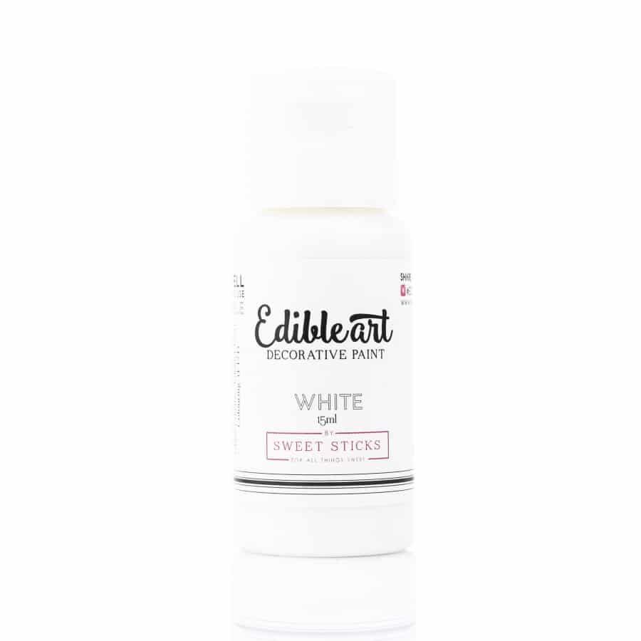 Sweet Sticks Edible Art Paint 15ml - Pearl White