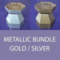 Cupcake Bouquet Box - Bundle Deals (Gold or Silver) - Box and invisiTray