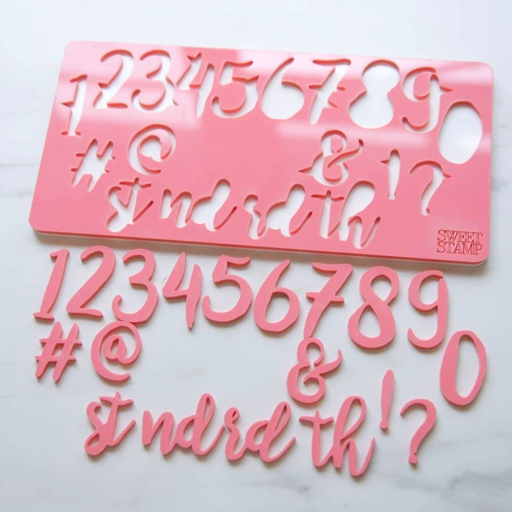 Sweet Stamp - Stylish Numbers & Symbols