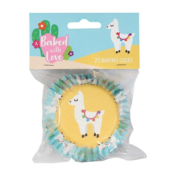 Baked with Love - Llama Foil Baking Cases Pack 25
