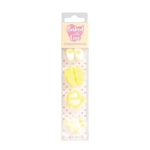 Baked with Love - Baby Cupcake Decorations - Pack of 13