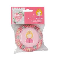 Baked with Love - Princess Foil Baking Cases - Pack of 25