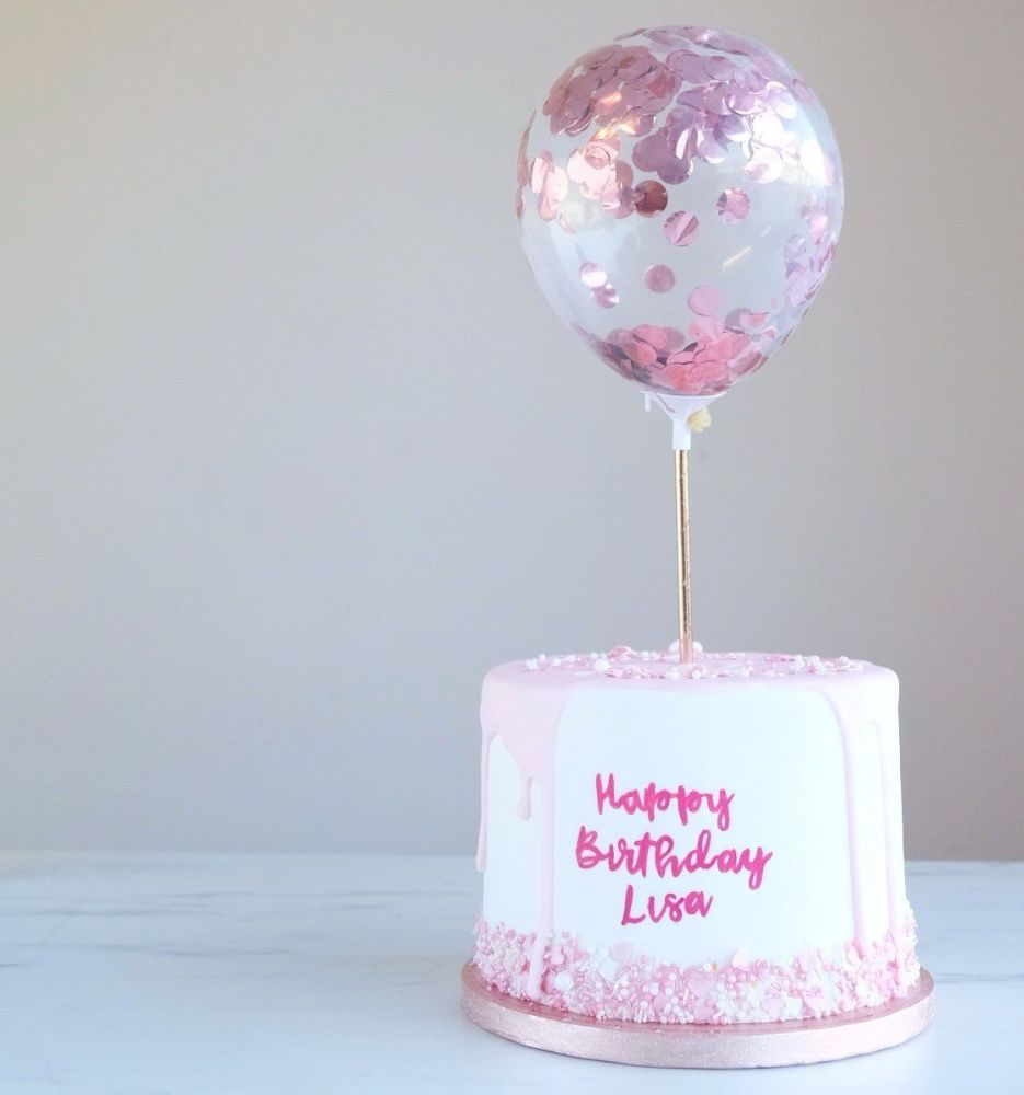 Confetti Cake Balloon Pack of 2 - Rose Gold