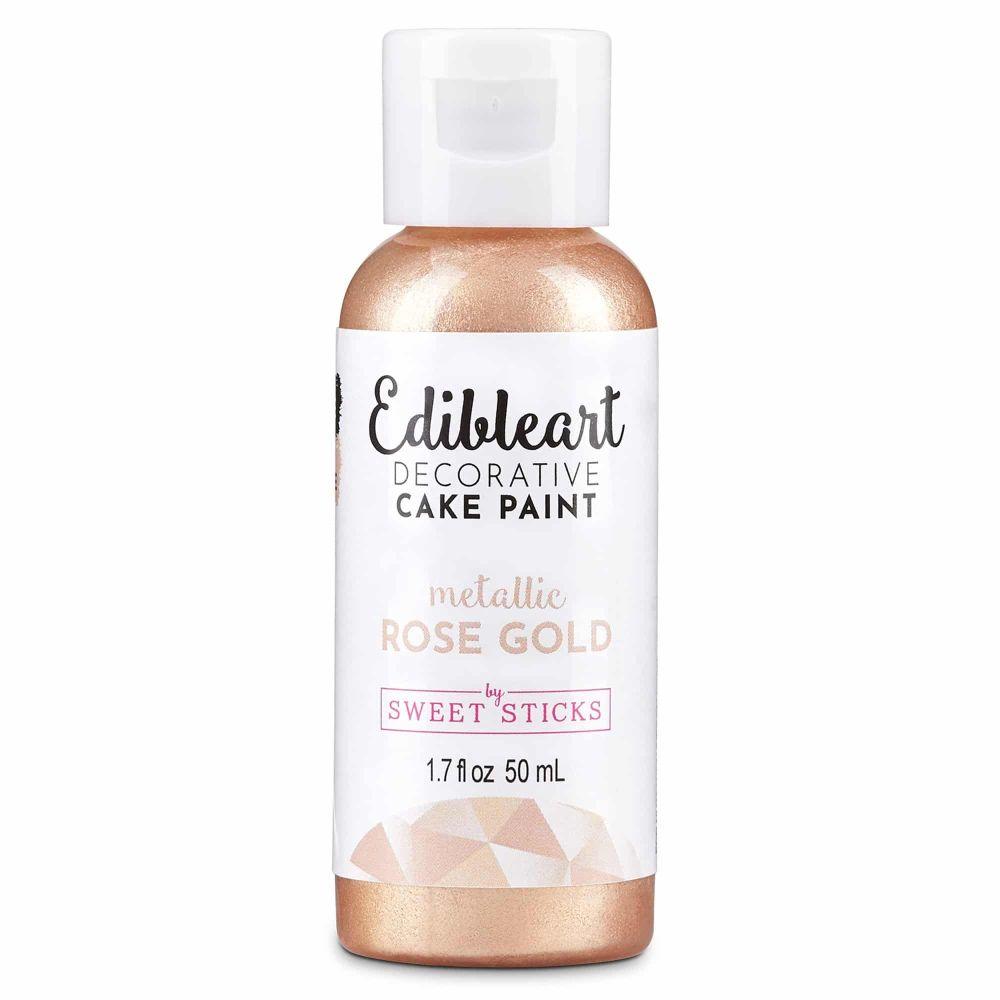 Sweet Sticks Edible Art Paint 50ml - Rose Gold
