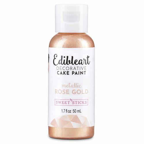Sweet Sticks Edible Art Paint 50ml - Rose Gold