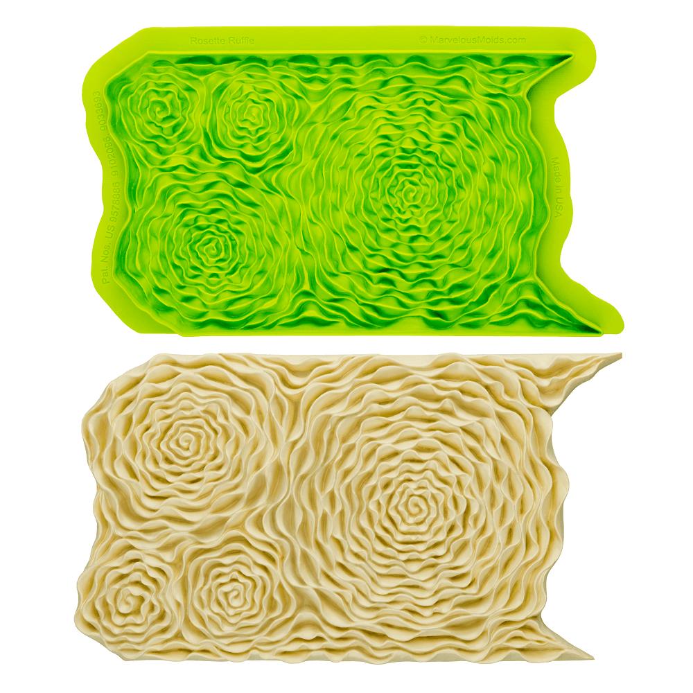 Rosette Ruffle Simpress Mould - Marvelous Molds