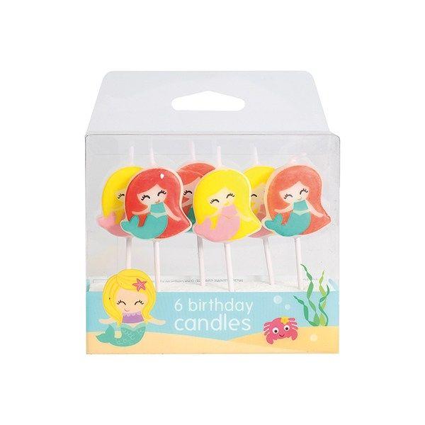 Mermaid Candles (6 Per Pack)