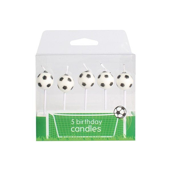 Football Candles (5 Per Pack)