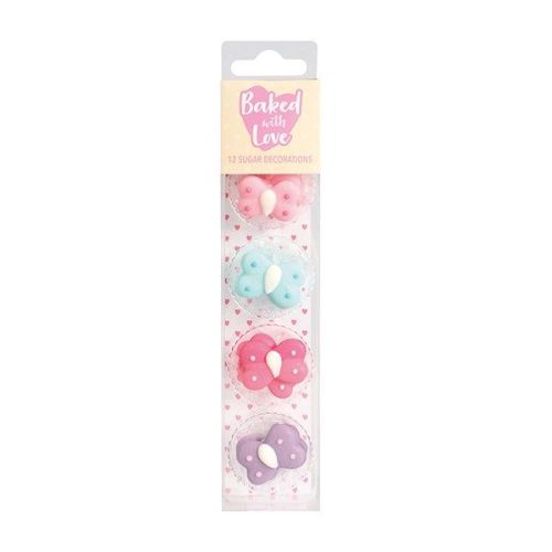 Baked with Love - Butterfly Cake and Cupcake Decorations - Pack of 12