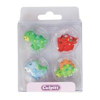 Cute Dinosaurs Sugar Pipings - Pack of 12