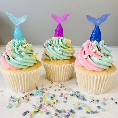 Mermaid Tails Pack of 6 - Cupcake Decorations