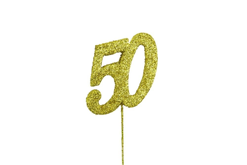Glitter Pick GOLD Number 50