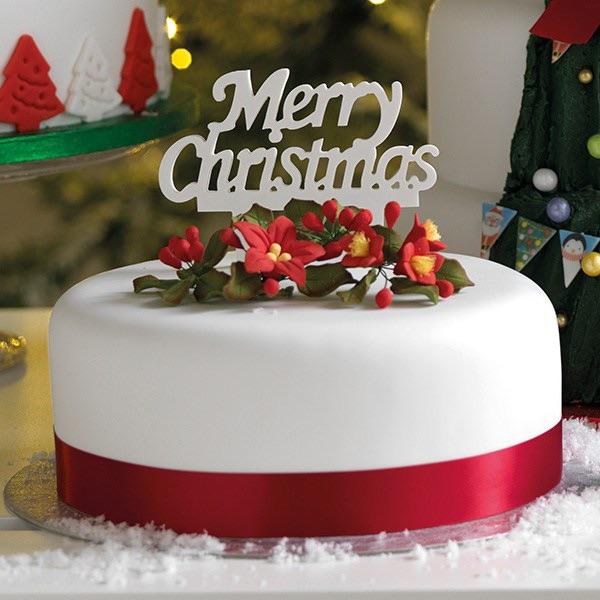 Gumpaste Cake Topper Pic - Merry Christmas