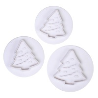 Cake Star Christmas Tree Plunger Cutters - 3 Set