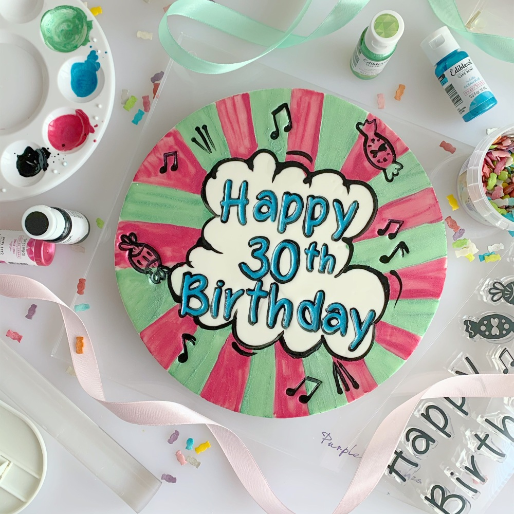 impressit™ Stamps: FINE TIP HAPPY BIRTHDAY (Cake Board Size)