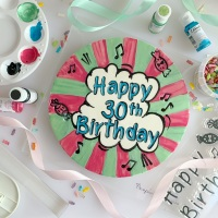 "impressitâ""¢ Stamps: FINE TIP HAPPY BIRTHDAY (Cake Board Size)"