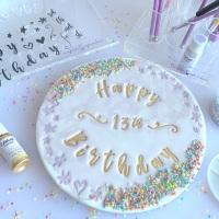 impressit™ Stamps: CELEBRATION HAPPY BIRTHDAY (Cake Board Size)