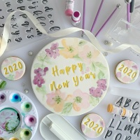 "impressitâ""¢ Alphabet & Numbers: CELEBRATION (Cake Board Size)"