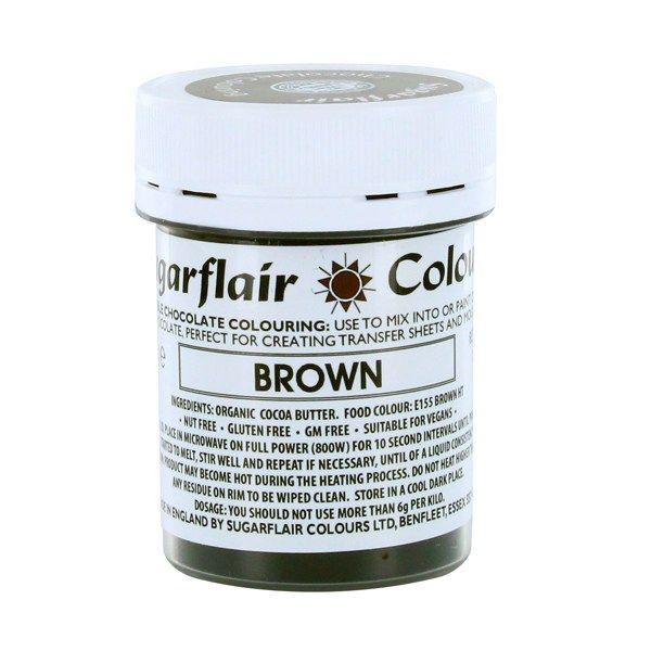Sugarflair Chocolate Colouring 35g - BROWN