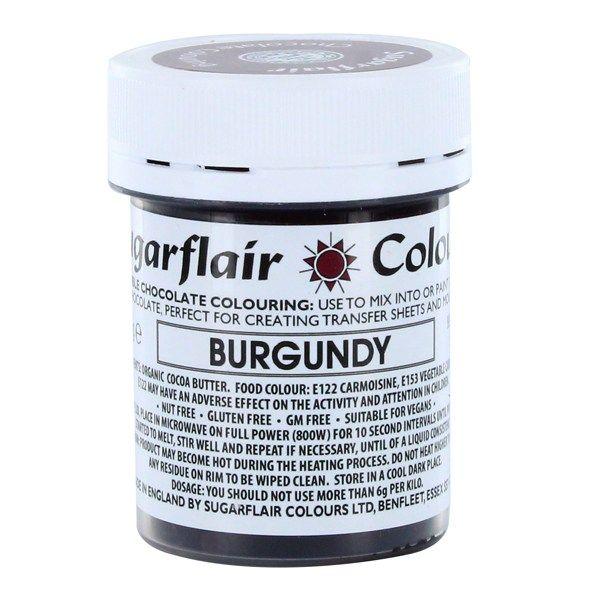 Sugarflair Chocolate Colouring 35g - BURGUNDY