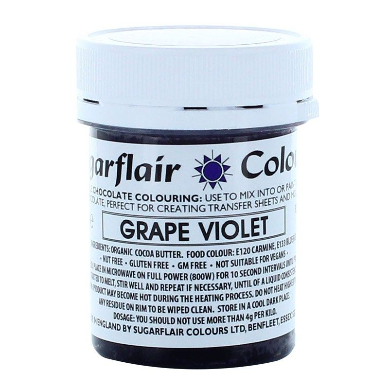Sugarflair Chocolate Colouring 35g - GRAPE VIOLET