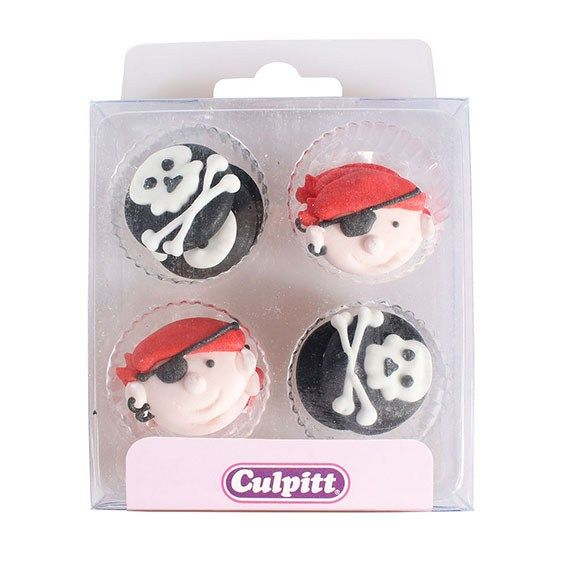 Culpitt Pirates Sugar Piping Decorations x 12