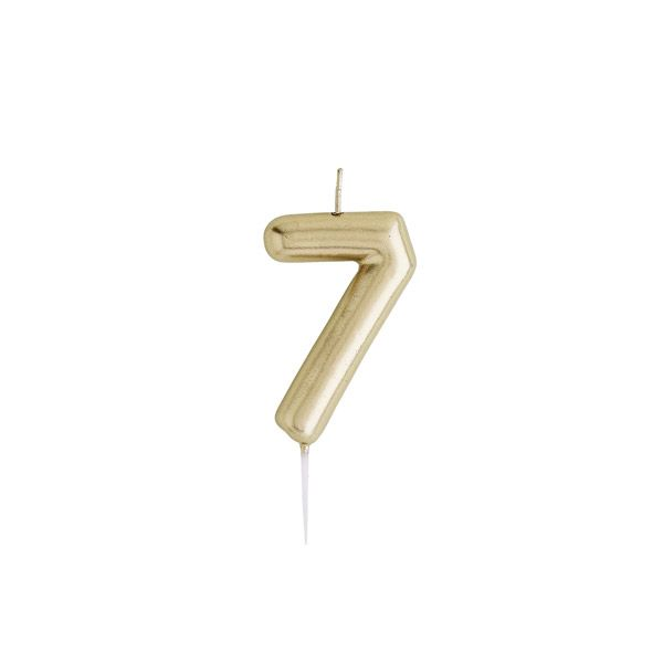 Hootyballoo - Gold Numeral Candles