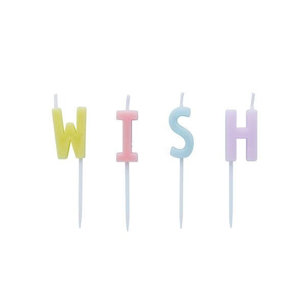 Hootyballoo Candles Pack of 4 - W I S H