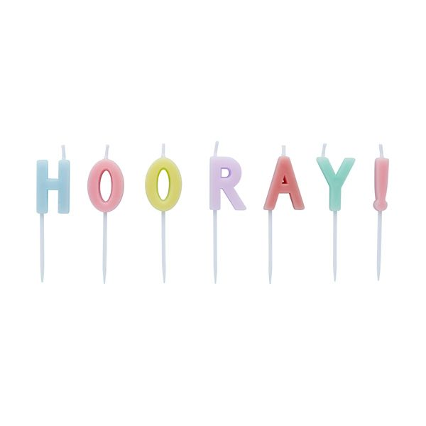 Hootyballoo Candles Pack of 4 - H O O R A Y !